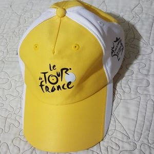 Tour de France Yellow and White Hat NWT